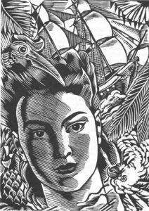 Bois de Clément Serveau pour une édition de Suzanne et le Pacifique en 1939.