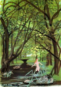 Illustration de Roger Chapelain-Midy pour Juliette au pays des hommes (Grasset 1955)